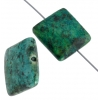 African Turquoise 12mm Square 14pcs Approx